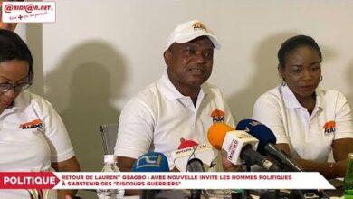 Retour De Laurent Gbagbo Aube Nouvelle Invite Les Hommes Politiques A Sabstenir Des Discours R6772T7Orfo Image