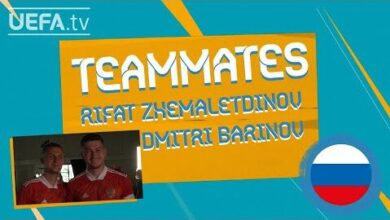 Russia Teammates Dmitri Barinov Rifat Zhemaletdinov Zvgq6K25Fka Image
