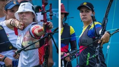 Spain V Colombia Recurve Womens Team Quarterfinal Final Olympic Qualifier 2021 Mwr5Gqsogua Image