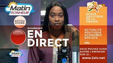 Suivez Pape Ousmane Cisse Journaliste Dans Matin Bonheur Avec Astou Dione Lundi 14 Juin 2021 Qbw2Cjtt68G Image