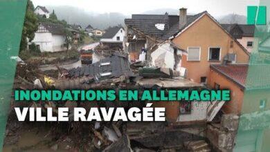 A Schuld En Allemagne Les Inondations Laissent Derriere Elles Dimmenses Degats Pvqflnkx7I4 Image