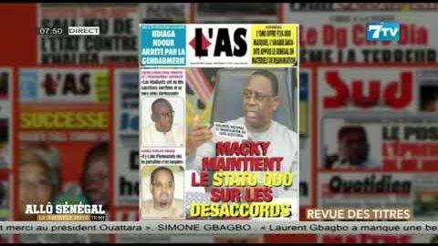 Allo Senegal La Matinale Infos Du Jeudi 08 Juillet 2021 La Revue De Presse Vnmt9Rj0Lng Image