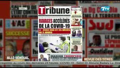 Allo Senegal La Matinale Infos Du Lundi 26 Juillet 2021 La Revue De Presse Urn2L0Hzeim Image