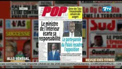 Allo Senegal La Matinale Infos Du Mardi 13 Juillet 2021 La Revue De Presse Dgisgwmsq90 Image
