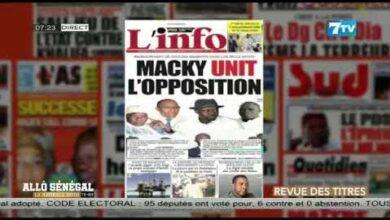 Allo Senegal La Matinale Infos Du Mercredi 14 Juillet 2021 La Revue De Presse Jelynqkcw0G Image