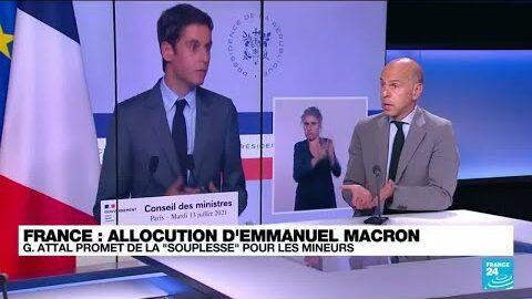 Allocution Demmanuel Macron Gabriel Attal Detaille Les Annonces Du President O France 24 T94Mk D9Fkk Image