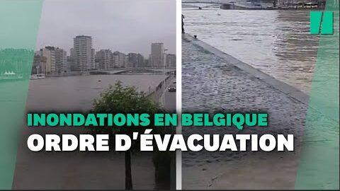Appel A Evacuer Liege Apres Les Inondations Qui Touchent La Belgique Et Lallemagne
