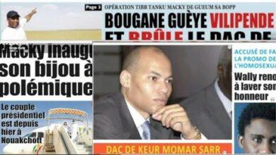 Atualite Macky Inaugure Son Bijou Politique Bougane Vilipende Et Brule Le Dac De Keur Momar Sarr Perx3C7Ypmi Image