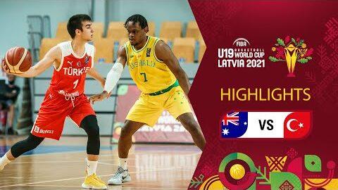 Australia Turkey Full Highlights Class 9 10 Fiba U19 Basketball World Cup 2021 Laegvfwcvmg Image