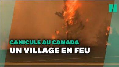 Canicule Au Canada Le Village De Lytton En Feu Evacue Durgence Bcodb1Iwgtk Image