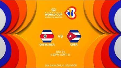 Costa Rica V Cuba Full Game Fiba World Cup 2023 Americas Pre Qualifiers Q3Uvzubwj Q Image