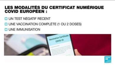 Covid 19 En Europe Entree En Vigueur Du Pass Sanitaire Pour Relancer Les Voyages Cet Ete Hun2 3Orb6W Image