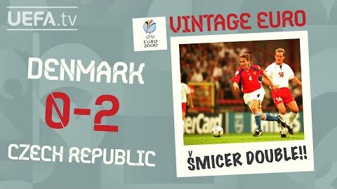 Denmark 0 2 Czech Republic Euro 2000 Vintage Euro S3G Vi3I4E Image