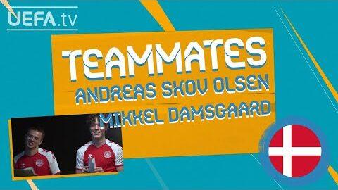 Denmark Teammates Andreas Skov Olsen Mikkel Damsgaard Wa0Ng10Myc0 Image