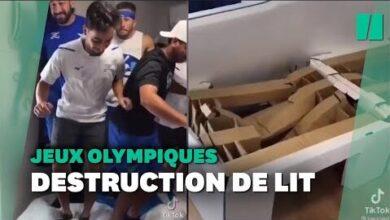 Des Athletes Israeliens Sexcusent Apres Avoir Detruit Des Lits Anti Sexe En Carton 9Chieobuwh4 Image