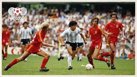 Diego Maradona Goal Vs Belgium 1986 Fifa World Cup Onz2 Mumwkq Image