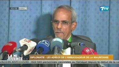 Diplomatie Les Adieux De Lambassadeur De La Mauritanie Aovmymhhnam Image
