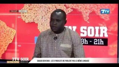 Direct 7Tv Soir Madiaw Khor Mbengue Sg Sut 3D Parle De La Situation De Dakar Dem Dik Tkoy6 Db04K Image