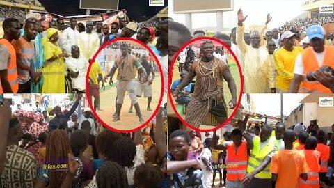 Drapeau Modou Fayedecouvrez Lambiance Chez Lui Avec Mboye Madiaga Et La Forte Mobilisation