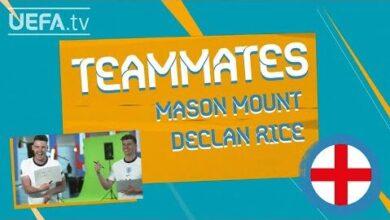 England Teammates Mason Mount Declan Rice Zgankvk2Ihm Image