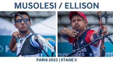 Federico Musolesi V Brady Ellison Recurve Men Semifinal Paris 2021 Hyundai Archery World Cup S3 Lc4Xb Imkho Image