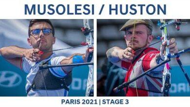 Federico Musolesi V Patrick Huston Recurve Men Bronze Paris 2021 Hyundai Archery World Cup S3 1Hhbx Ejj4 Image