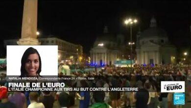 Finale De Leuro 2021 Scenes De Liesse Dans Les Rue De Rome O France 24 Uo0Jlhqajec Image