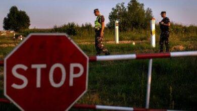 Fronteira Europeia Com A Bielorrusia Reforcada Com Arame Farpado Nyu7Mk4Deq4 Image