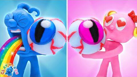 Globe Oculaire Gommeux Pinky Et Blue Mukbang Clay Mixer Dessins Animes En Francais Bawp Ledlwg Image