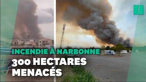 Important Feu De Foret Dans Le Massif De La Clape Pres De Narbonne Dans Laude Jnqfa 4Pyne Image