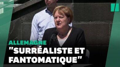 Inondations En Allemagne Choquee Angela Merkel Peine A Decrire Les Degats Wcdztil Rx0 Image