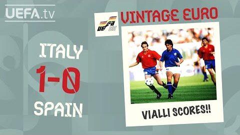 Italy 1 0 Spain Euro 1988 Vintage Euro Qa2S7Zco5Mg Image