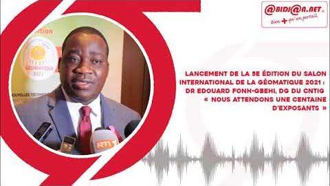 Lancement De La 5E Edition Du Salon International De La Geomatique 2021 Dr Edouard Fonh Gbehi D Sjcfcl23Vg4 Image