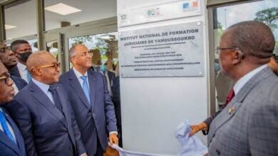 Le 1Er Ministre Patrick Achi Inaugure Linstitut National De Formation Judiciaire De Yamoussoukro Vqurh Y1N4 Image