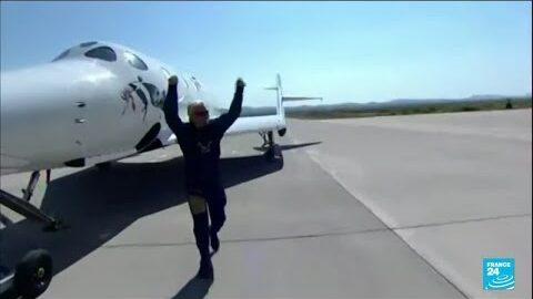 Le Milliardaire Richard Branson A Reussi Son Premier Vol Dans Lespace O France 24 Theuifot7Bw Image