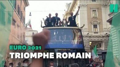 Les Images Du Retour Triomphal Des Joueurs Italiens A Rome Qrbwdmrznym Image