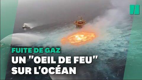 Les Images Surrealistes Dun Gazoduc Sous Marin En Feu Dans Le Golfe Du Mexique Bfdjhyrvnvw Image