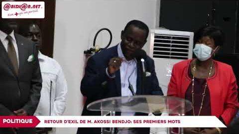 Les Premiers Mots De Akossi Bendjo De Retour Dexil Etopgbivbeo Image