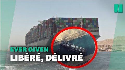Lever Given Qui Avait Bloque Le Canal De Suez A Enfin Leve Lancre