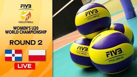Live Dom Vs Pol Round 2 Womens U20 Volleyball World Champs Dfd 6Gd8Gi8 Image