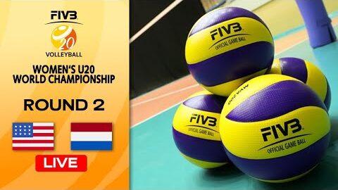 Live Usa Vs Ned Round 2 Womens U20 Volleyball World Champs 1Jk9Sqqf7Je Image