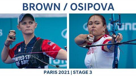 Mackenzie Brown V Elena Osipova Recurve Women Semifinal Paris 2021 Hyundai Archery World Cup S3 Nikze