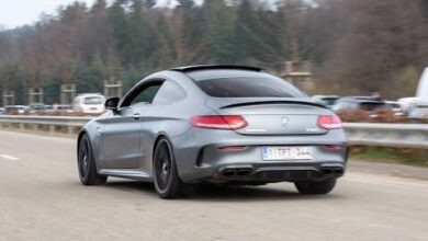 Mercedes C63 S Amg Coupe With Custom Exhaust Loud Accelerations Burnouts Powerslide A4Qlcqgxtoq Image
