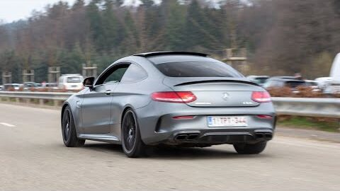 Mercedes C63 S Amg Coupe With Custom Exhaust Loud Accelerations Burnouts Powerslide