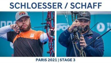 Mike Schloesser V Kris Schaff Compound Men Semifinal Paris 2021 Hyundai Archery World Cup S3 Gvqau5Tzfsy Image