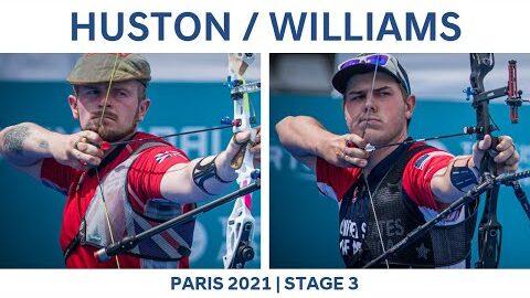Patrick Huston V Jack Williams Recurve Men Semifinal Paris 2021 Hyundai Archery World Cup S3