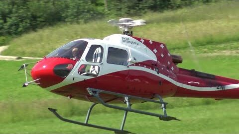 Perfect Looking Rc Scale Turbine Model Ecureuil As350 Swiss Helicopter