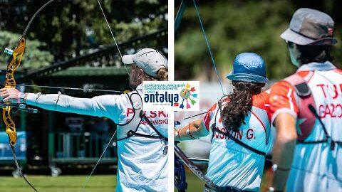 Poland V Turkey Recurve Mixed Team Bronze Antalya 2021 European Archery Championships Nuyujeg15Fs Image