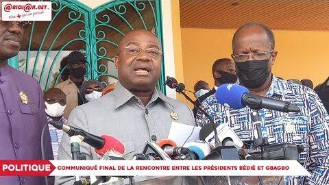 Politique Communique Final De La Rencontre Entre Les Presidents Bedie Et Gbagbo