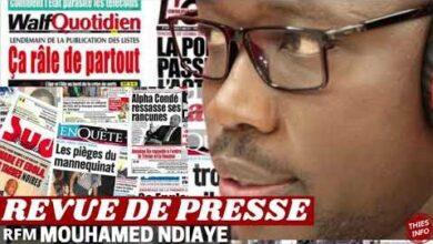 Revue De Presse Journal Rfm Du 15 Juillet 2021 Par Mouhamed Ndiaye Bwfq26P0Uco Image
